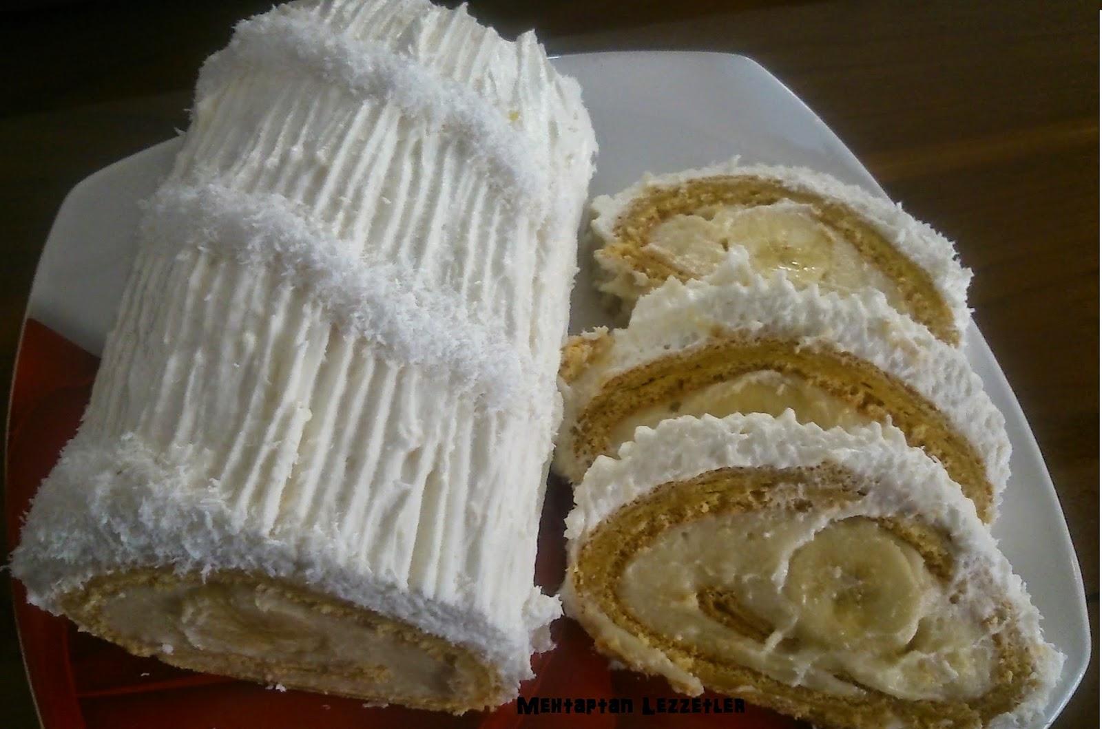 Muzlu Rulo Yaş Pasta