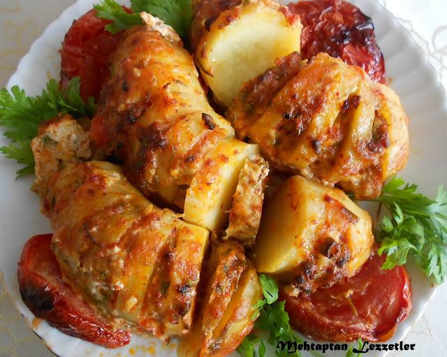 Tavuklu Yelpaze Patates Yemeği